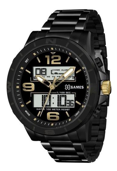 Relógio X Games Masculino Ref: Xmnsa001 P2px Anadigi Black