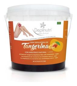 Cera Oficial Depilnutri 2,5kg - Tangerina - Com Anestésico