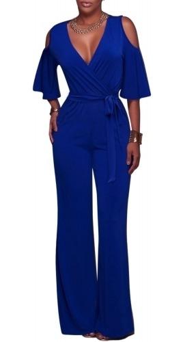 Elegante Jumpsuit Azul Rey