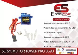 Servomotor Tower Pro Sg90 1,8kg.cm Engranaje Nylon. Arduino