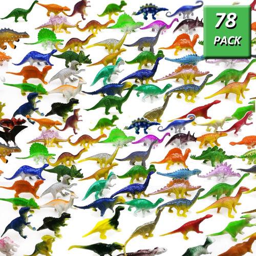 Imagen 1 de 7 de 78 Pack Mini Dinosaurio Figura Juguetes De Plástico Dinosaur
