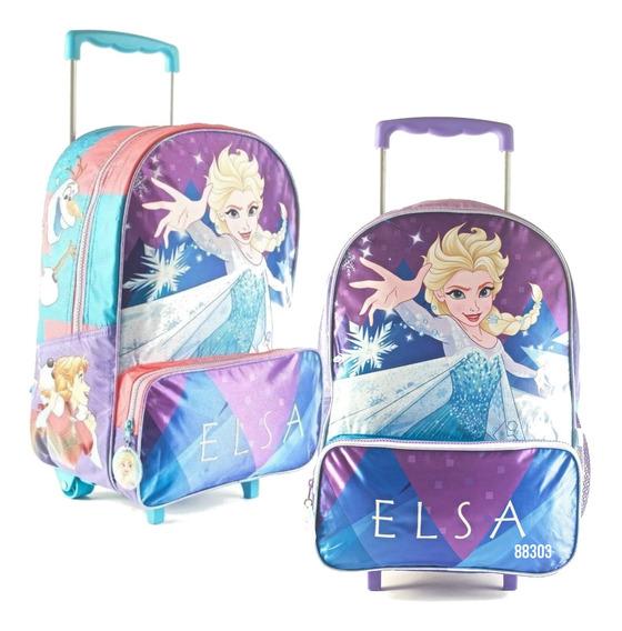 Mochila Carrito Frozen 16p Elsa Anna Mmk 88303