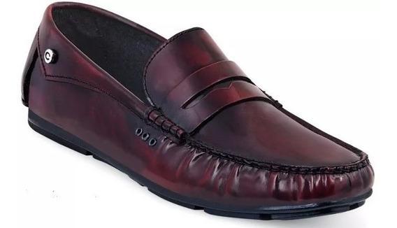 Zapatos/mocasines Hombre Cklass 111-03 Vino 100% Piel Oi-9