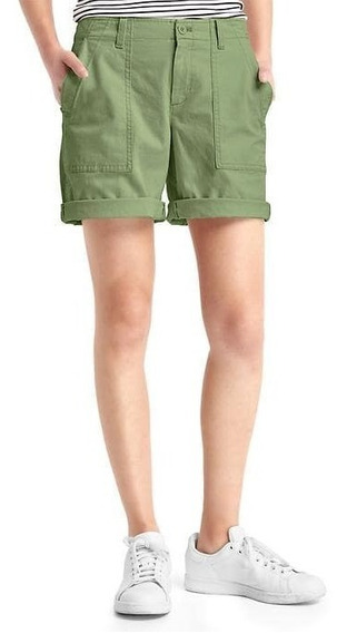 Bermuda Gap Women Chino Short Talle 14 Usa Xlarge Stretch