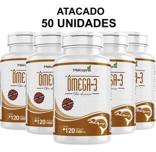 Combo 50un Omega 3 - 120 Capsulas 1000mg Original Melcoprol