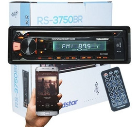 Cd Player Mp3 Auto Toca Som Fm Usb Controle Bluetooth Sd Aux