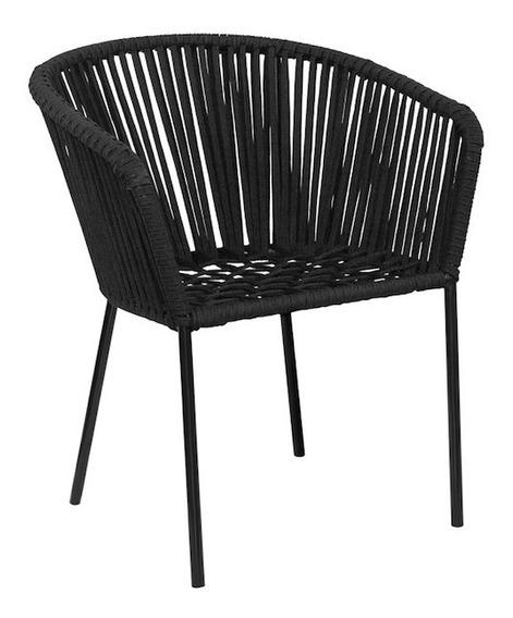Silla De Diseño Acero Y Cordón Modelo Spaguetti By Promobel