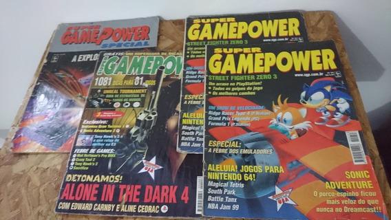 Lote De 4 Revistas Super Game Power