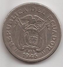 Ecuador Moneda De 1 Sucre Año 1946 !!!