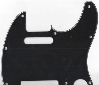 Pickguard Sambong M11 Negro Tipo Telecaster 3 Capas
