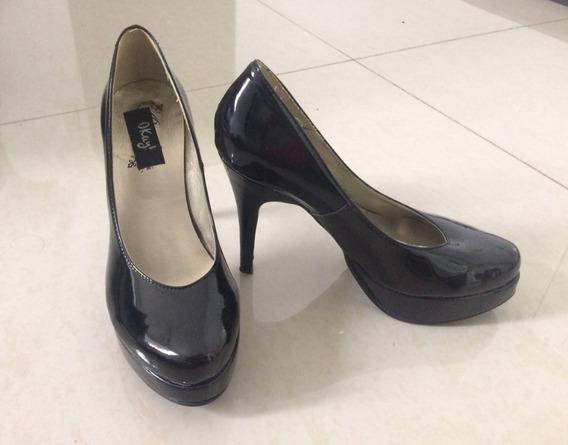 Zapatos Stilettos Mujer-taco Y Plataforma - Talle 39 - Negro