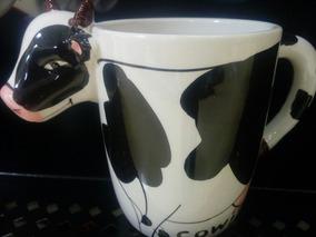 Taza Decorada De Vaca Animal De Granja