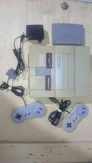 Super Nintendo Completo Com Todos Os Super Mario Snes 001