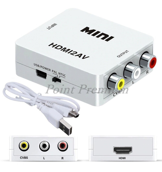 Adaptador Conversor De Hdmi Para 3 Rca Audio Video Av Tv Box