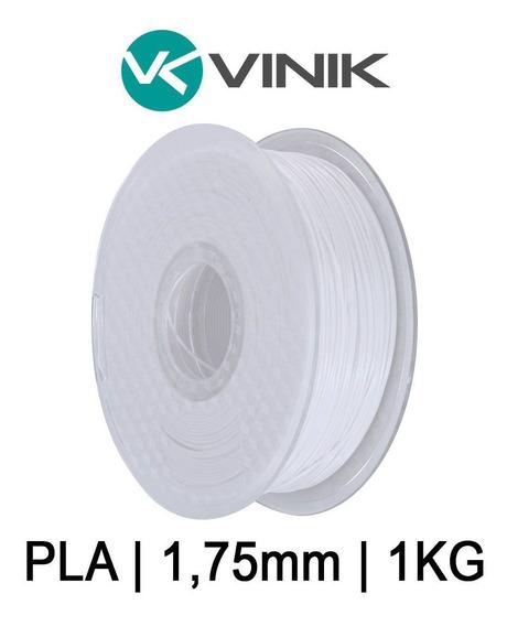 Filamento Pla Branco Impressão 3d | 1,75mm | 1kg | Vinik