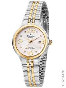 Relógio Champion Steel Cs28147b Pulseira Mista Original