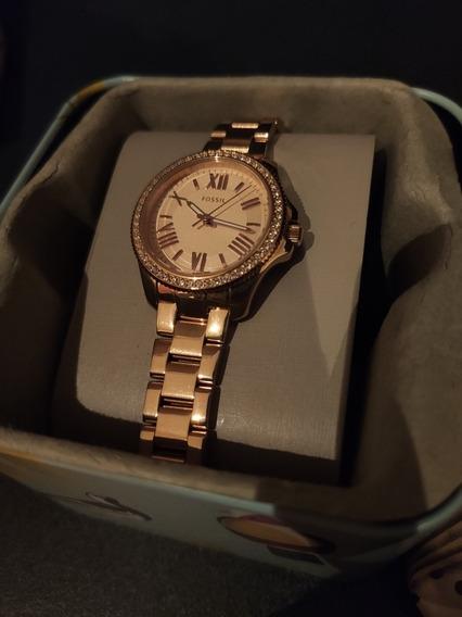 Reloj Fossil Cecile Rose Gold Am4578 10atm Muy Poco Uso