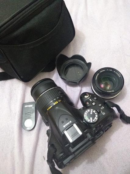 Nikon D5200 + 3 Lentes Nikkor + Controle Remoto Nikon