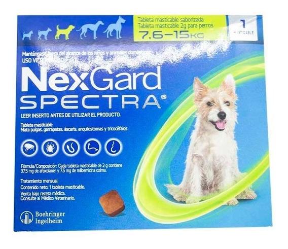 Nexgard Spectra 7.6-15kg Para Pulgas Y Garrapatas