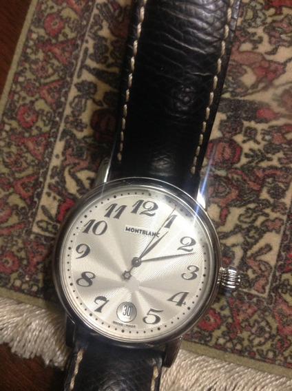 Relógio Mont Blanc Meisterstuck Modelo 7042 Fundo Branco