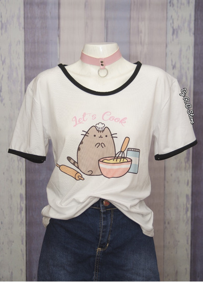 Remera Pusheen Cook Gatito Diseños Originales By Rc Store