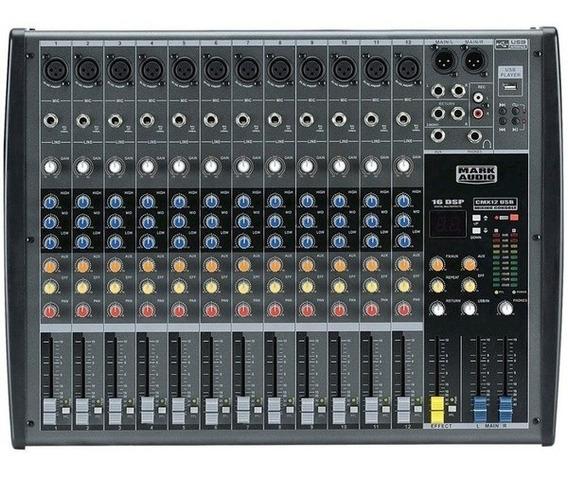 Mesa De Som Mark Audio Cmx 12usb/sd