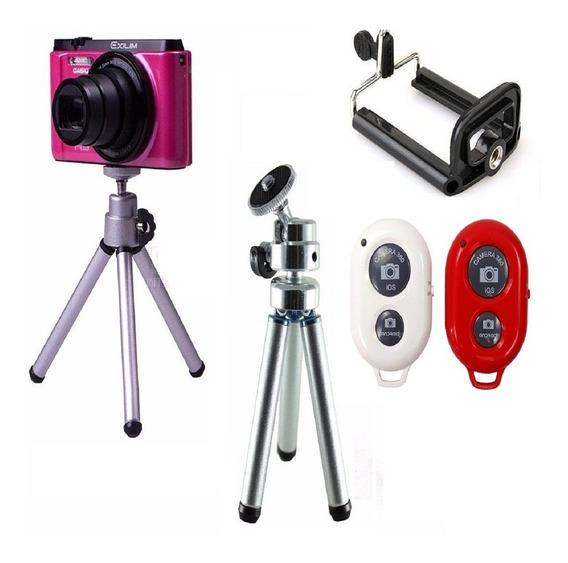 Tripé Pra Camera Digital Suporte Celular Controle Bluetooth
