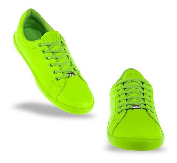 Tenis Choclo Mujer Verde Casuales Next & Co Originales Niñas