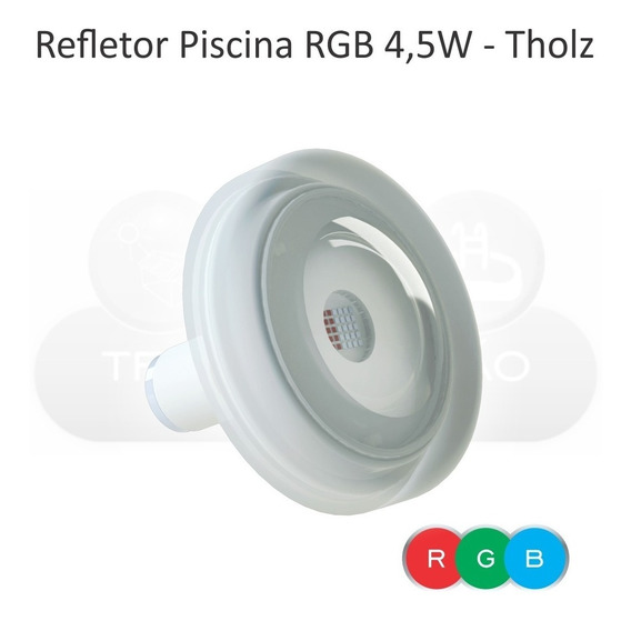 Refletor Iluminação Piscina Tholz - Power Led Rgb 4,5w