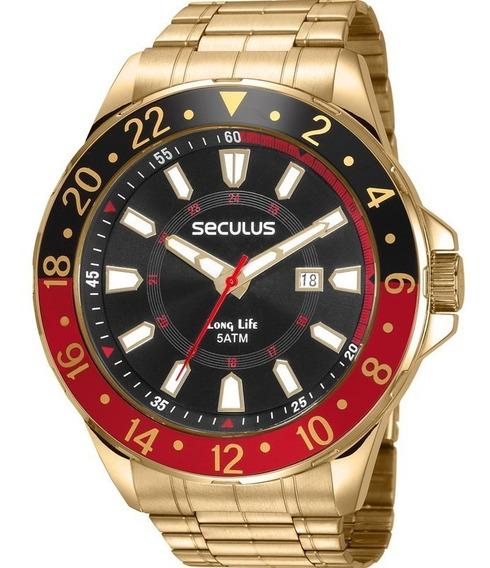 Relógio Masculino Seculus Long Life 23653gpsvda2