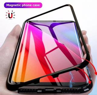 Case Bumper Magnético Samsung J8 + Película De Vidro 5d