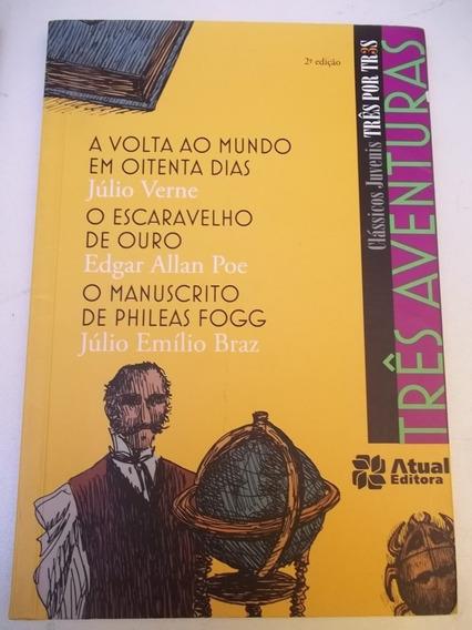 Livro - 3 Aventuras Classicos Juvenis Poe Verne Bras