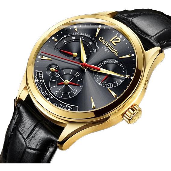 Reloj Chelini Oro 14 Kilates | Acero 46mm | Movimiento Automático 21 Rubíes