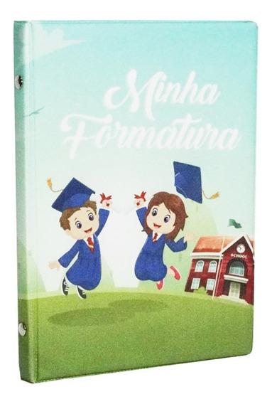 4 Álbum Foto Formatura Infantil Escolar Para 40 Fotos 15x21