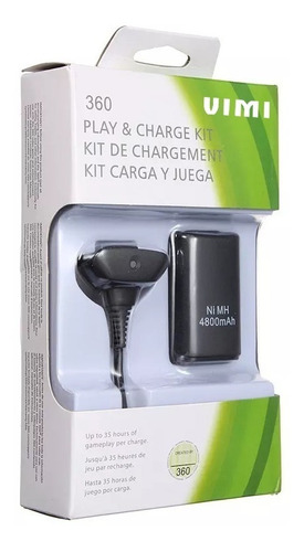 Imagen 1 de 8 de Paquete 10 Kit Carga Y Juega Para Control Xbox 360.