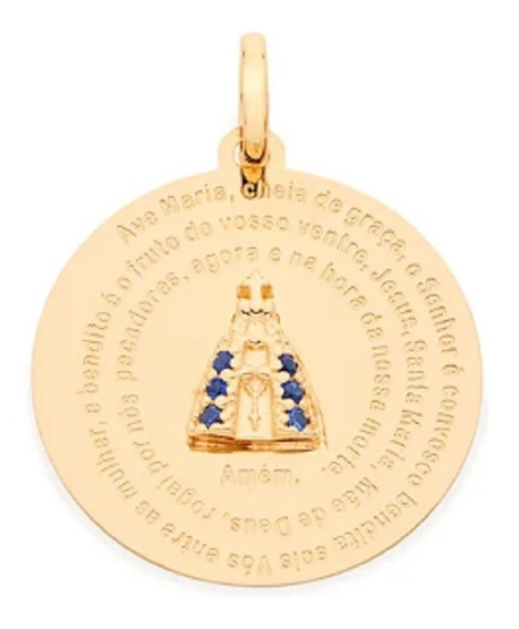Pingente Folheado A Ouro Rommanel De N° Sra Aparecida 542067