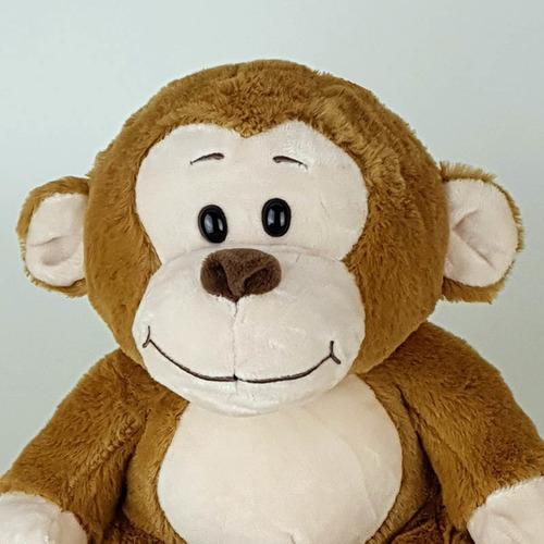 Imagem 1 de 4 de Macaco Macaquinho Gorila De Pelúcia 20cm Caramelo