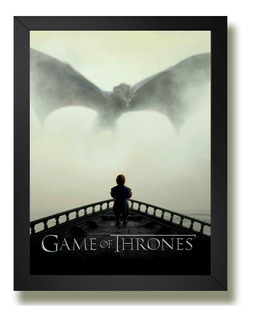 Quadro Game Of Thrones Leao Dragao Serie Tv Id1 Geek Poster