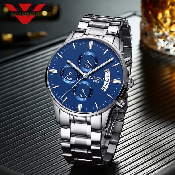Relógio Nibosi 2309 Aço Inox Blindado À Prova D