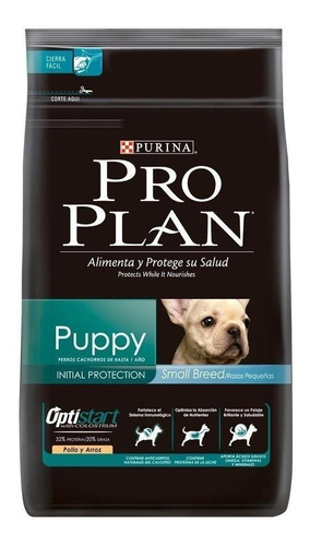 Imagen 1 de 1 de Alimento Pro Plan OptiStart Puppy para perro cachorro de raza pequeña sabor pollo/arroz en bolsa de 3.5kg