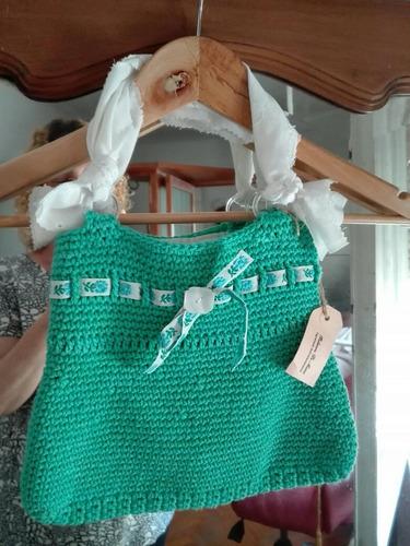 Bolso Diseño Exclusivo Al Crochet.