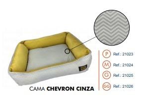 Cama Super Premium Chevron Cinza G