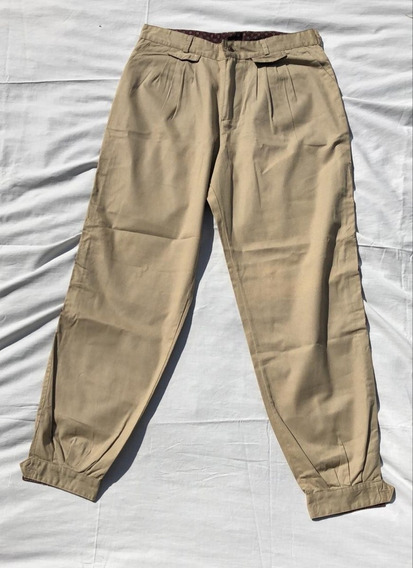 Pantalon Mujer Bombacha De Campo Beige Bordada Talle 44 Acme
