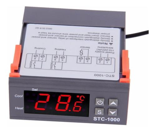 Imagen 1 de 6 de Termostato Digital Controlador Temperatura 110-220v Stc1000