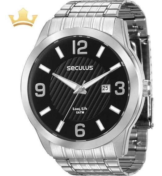Relógio Seculus Masculino 28837g0svna1 C/ Garantia E Nf Full