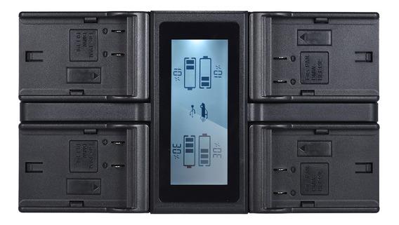 Bateria Da Câmera Digital Lcd Andoer Dmw-blf19e De 4 Canais