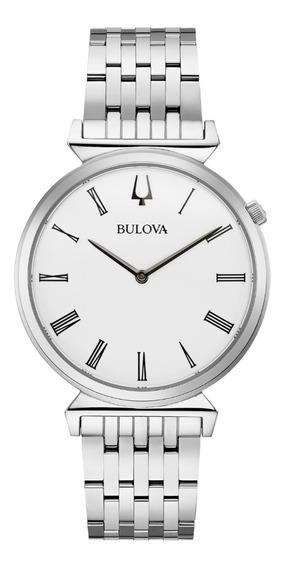 Relógio Bulova Regatta Quartz Slim 96a232 Masculino + Nfe