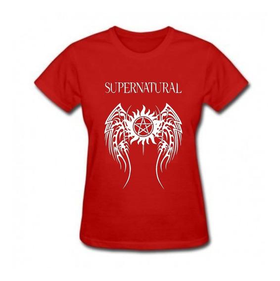Baby Look Feminina Supernatural Série Seriado Camisa