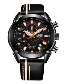 Relógio Masculino Original Lige De Luxo 9869