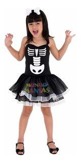 Disfraz Halloween Bruja Esqueleto Blanco Mundo Manias